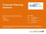 Financial Planning Seminar at 26th June 2016