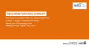 Free Financial Planning Seminar at 7th August