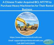 Avail BCL MT799 from Us to Prove Your Financial Worth