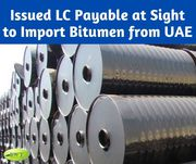 Get LC Payable at Sight to Import Petroleum Products